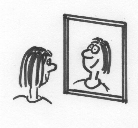 Finde dein Spiegelbild.
