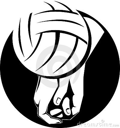 Spike Volleyball Clipart.