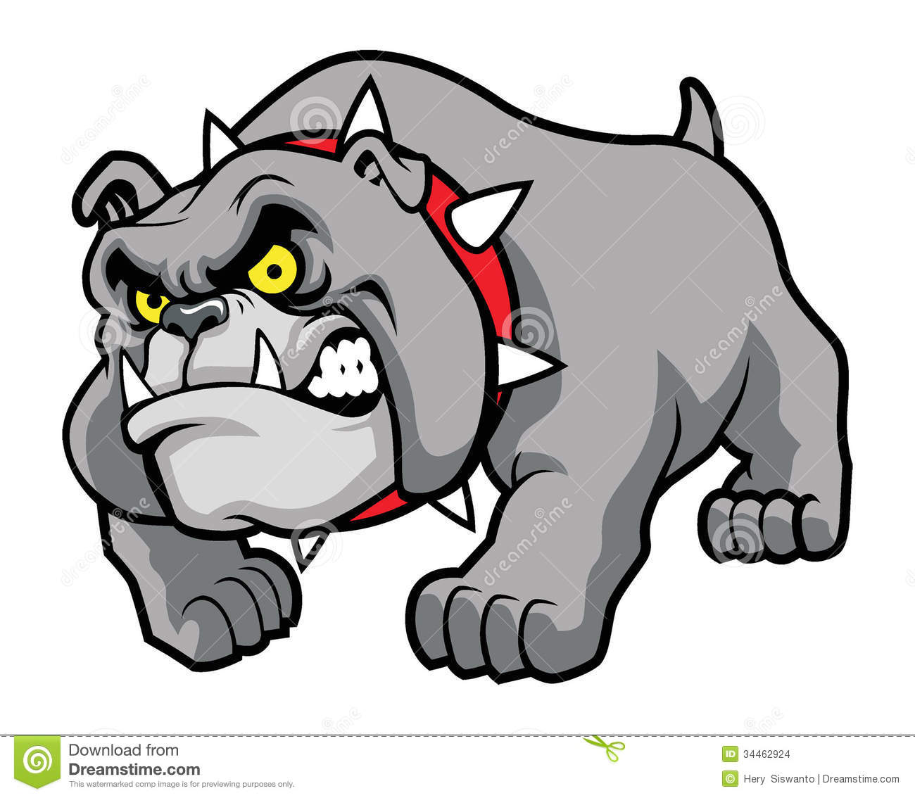 Classic Bulldog Pose Stock Images.