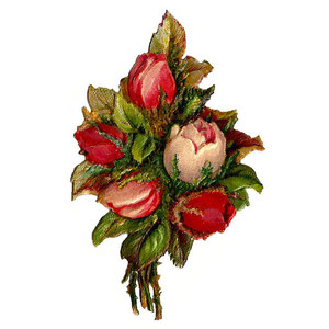 Free Flower Clip Art Red and Pink Rose Bouquet Clip Art from.
