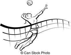 Volleyball spike Clipart Vector and Illustration. 245 Volleyball.
