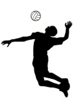 volleyball spike clipart black and white #13