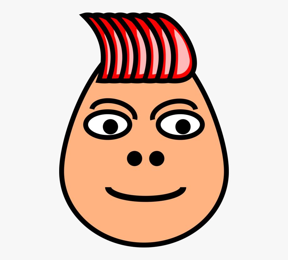 Hairstyle Liberty Spikes Black Hair Cartoon.