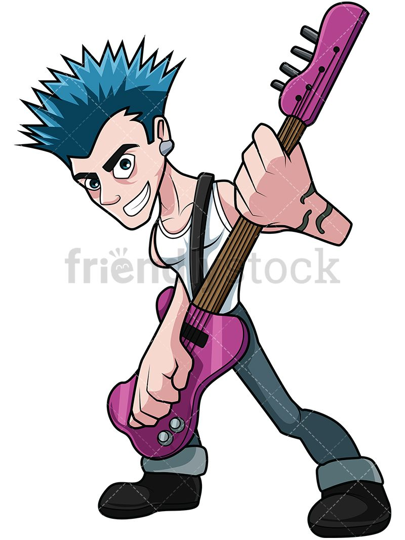 Punk Rocker Guitar Player.