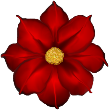 Red Flower Png.