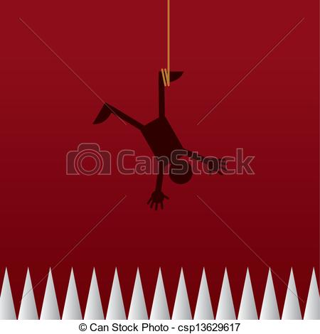 Vector Clip Art of Hanging Upside Down Spikes.
