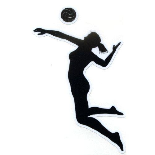 Volleyball players spiking clipart.