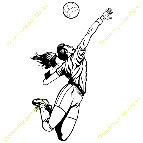 Volleyball Spike Clipart.