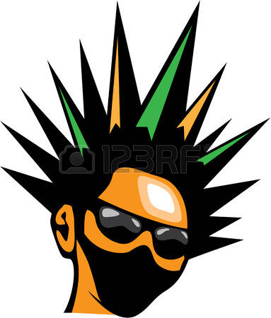 194 Spiky Hair Stock Illustrations, Cliparts And Royalty Free.