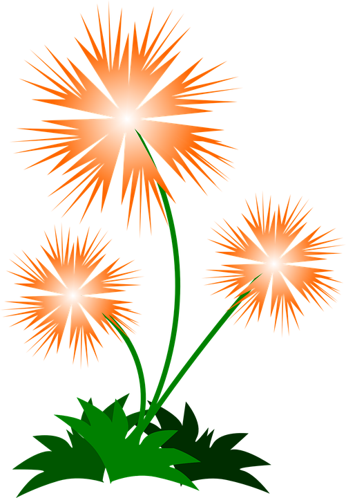 Free vector graphic: Flower, Abstract, Spring, Orange.