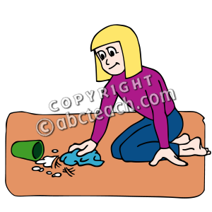 Spill Clean Up Clipart.