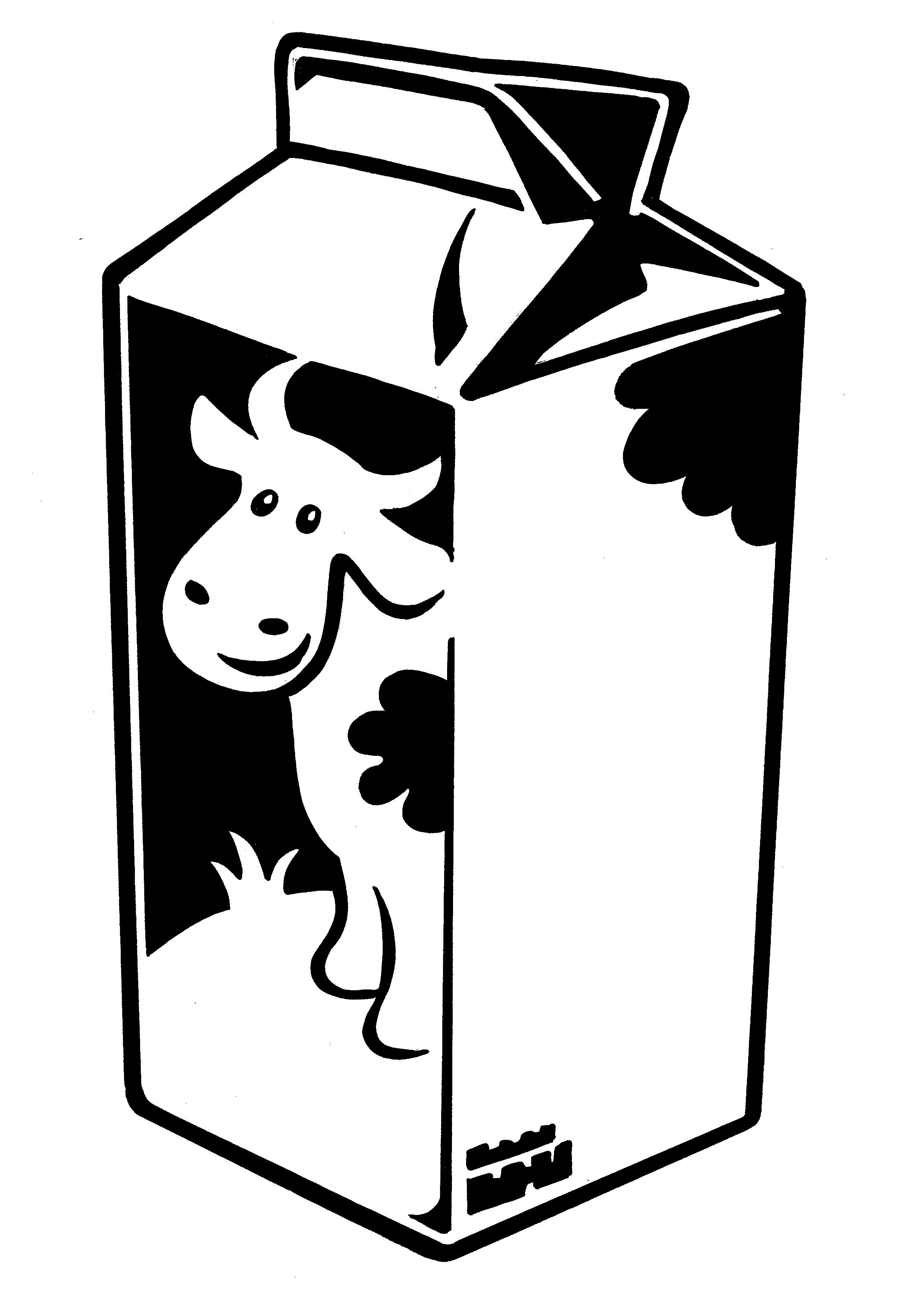 Spilled milk clipart black and white.