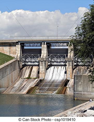 Stock Photography of Spillway.