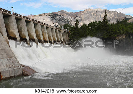 Pictures of Hydro Electric Dam Spillway k8147218.
