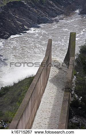 Picture of Spillway of the dam of the Yeguas, Cordoba province.