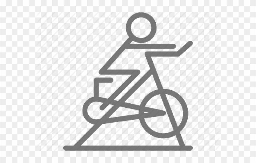 Exercise Bench Clipart Spin Bike.
