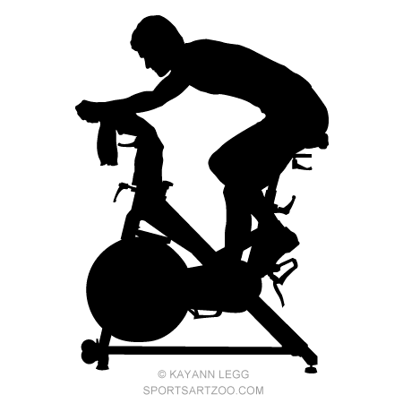 Fitness Spinning Silhouette.