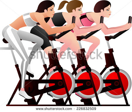 Spinning Class Stock Images, Royalty.