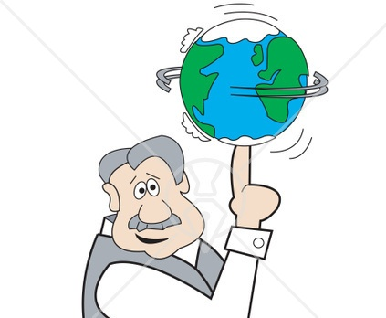 Spinning earth clip art.