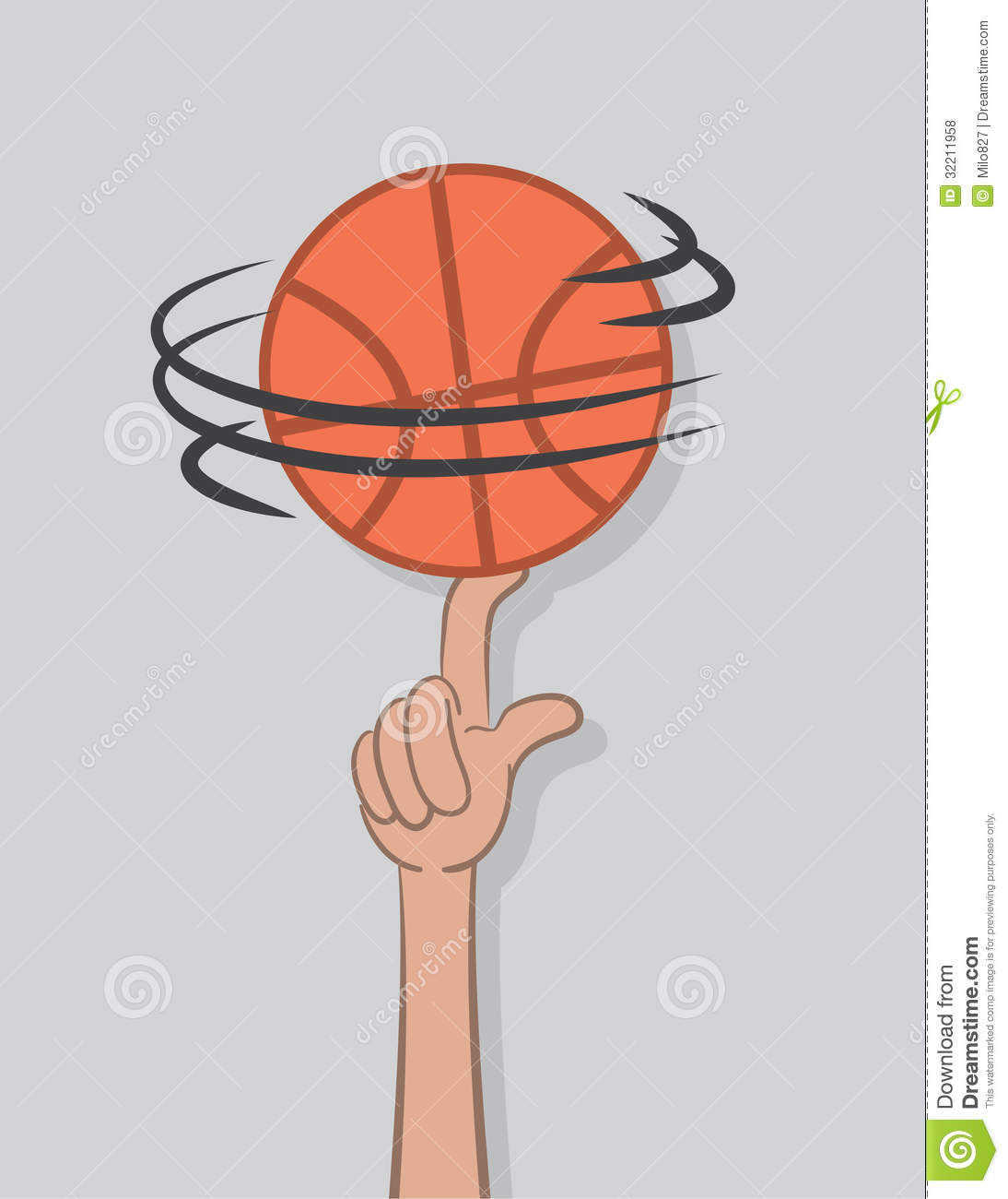 Spinning basketball clipart.