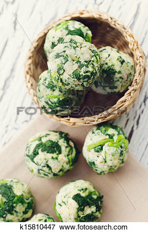 Picture of Spinach dumplings k15810447.