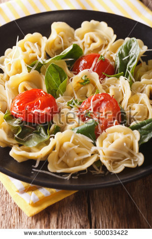 Plate Of Tortellini Stock Photos, Royalty.