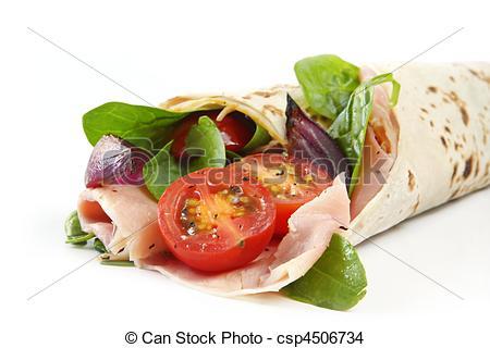 Stock Photo of Wrap Sandwich.