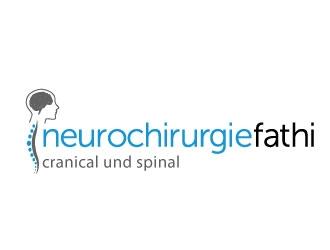 neurochirurgiefathi cranical und spinal logo design.