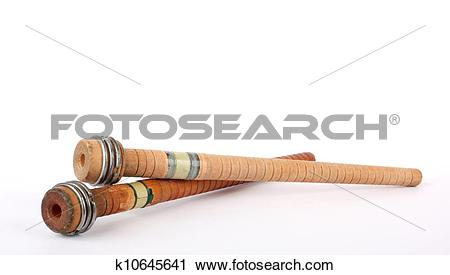 Stock Photography of Antique Spindles k10645641.