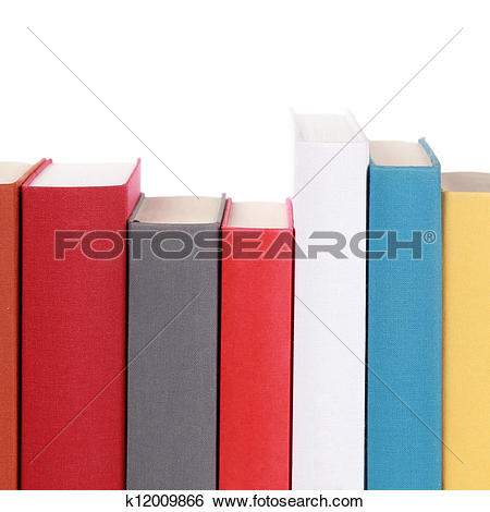 Stock Photo of Empty book spines k11827793.