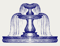 Artistic Water Fountain Stock Illustrations.