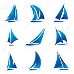 Sailboat clipart navy blue logo.
