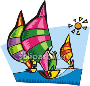 with Spinnakers Royalty Free Clipart Picture.