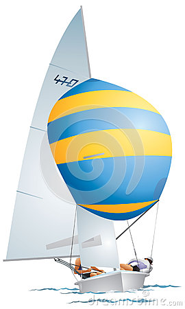 Spinnaker Stock Illustrations.