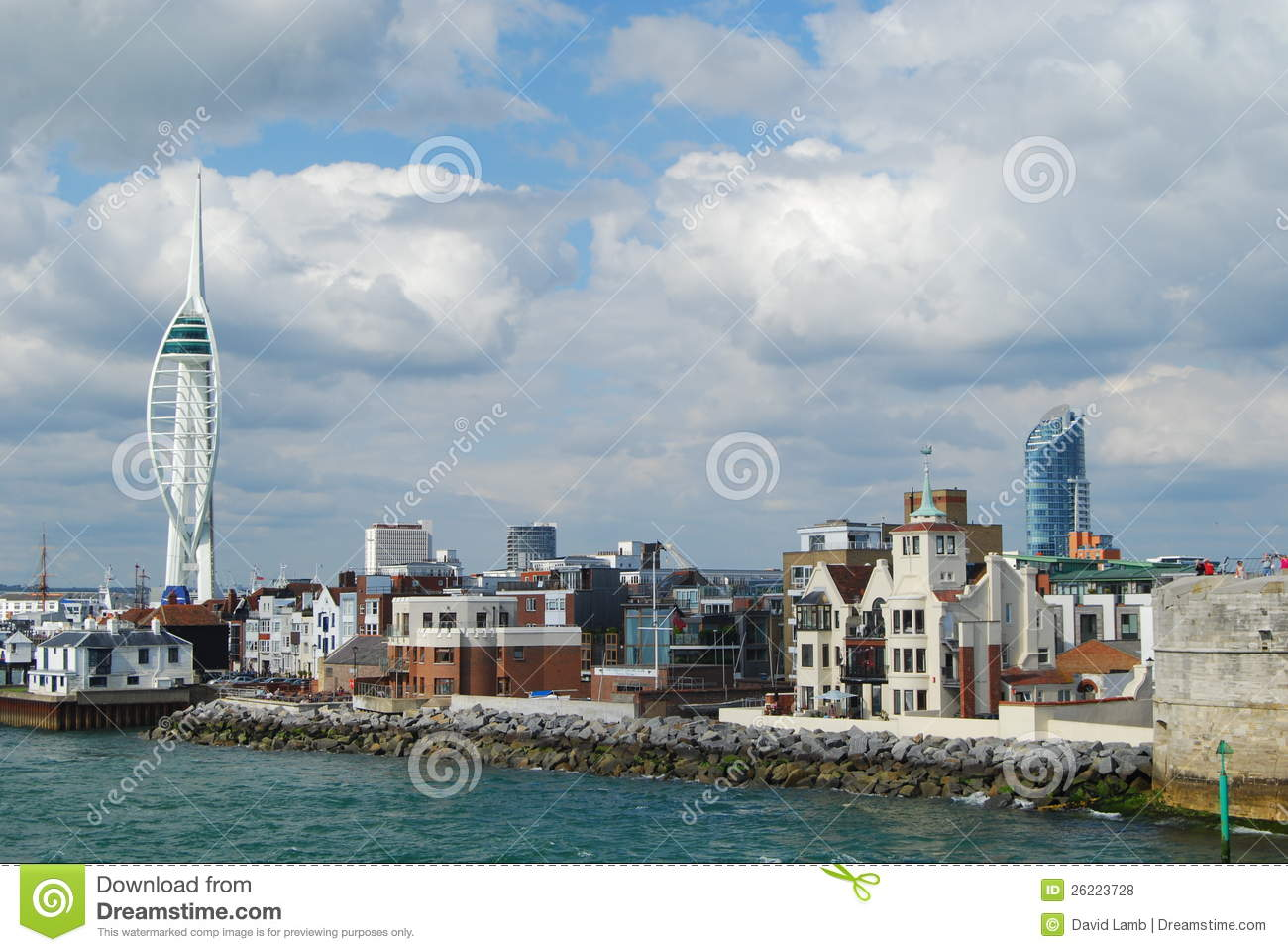 Spinnaker Tower, Portsmouth Royalty Free Stock Photos.