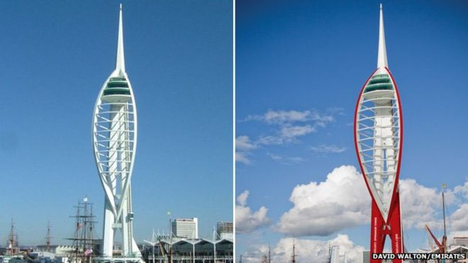 Plans to repaint Spinnaker Tower red branded a shit idea by local.