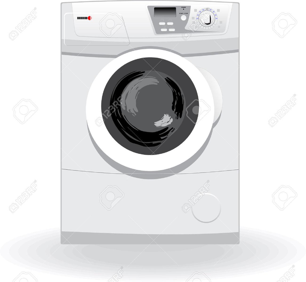 Washing Machine Vector Illustration Royalty Free Cliparts, Vectors.