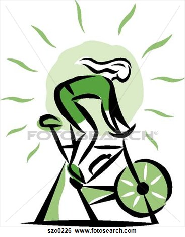 Clipart spinning bike.