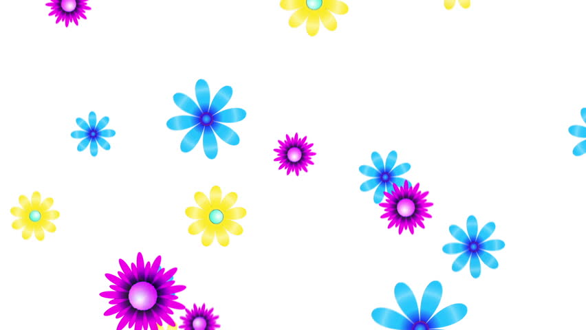 Spinning Flower Animation Stock Footage Video 1958296.