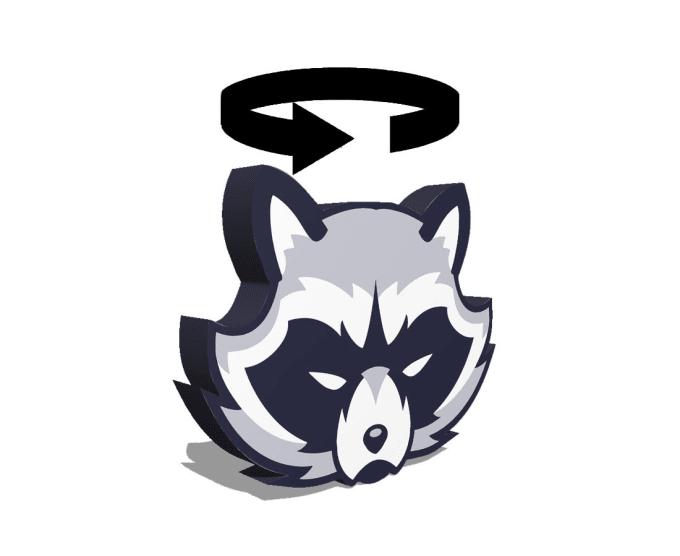 create a 3d spinning logo.