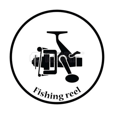 Fishing reel clipart.