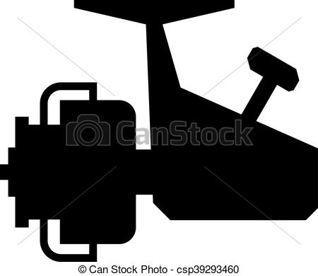 Clip Art Vector of Spinning reel, shade picture csp39293460.