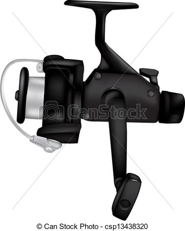 Vector Illustration of Fishing Reel detailed vector illustration.