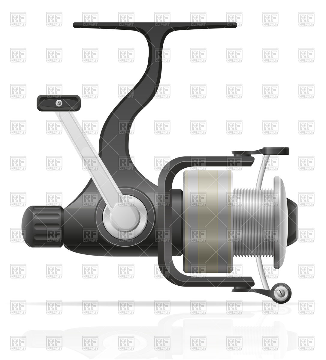 Spinning reel for fishing Vector Image #75940.
