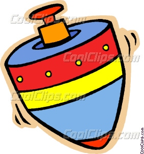 spinning top Vector Clip art.