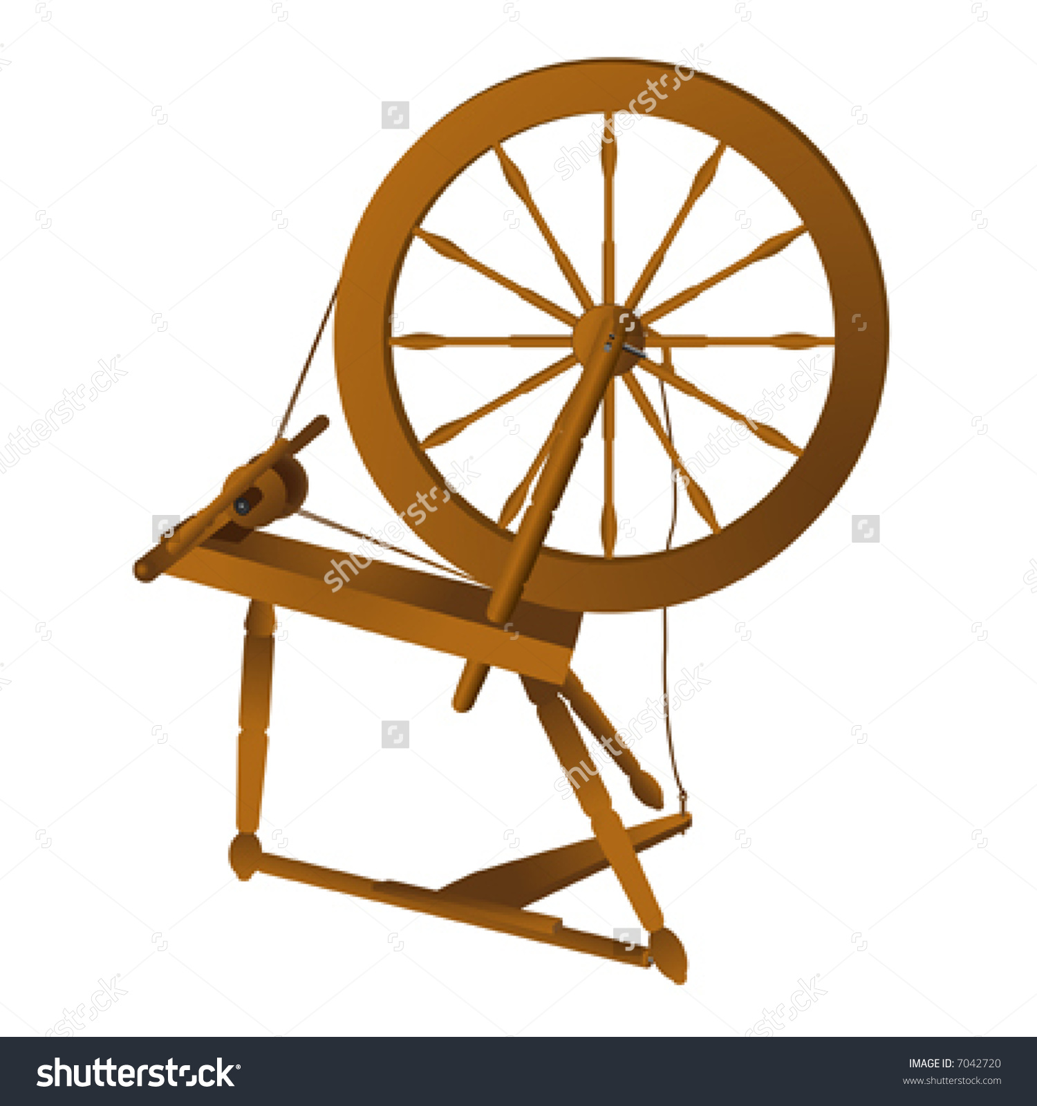 Spinning wheel clipart silhouette.