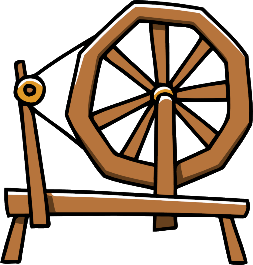 Clipart spinning wheel.