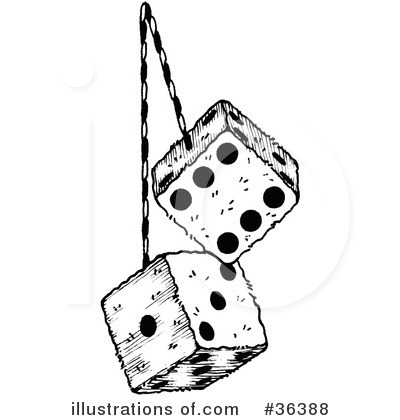 Fuzzy Dice Clipart.