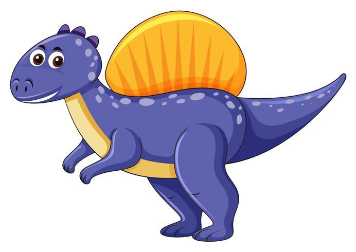 Spinosaurus dinosaur on white background.