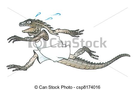 Stock Illustration of black iguana.